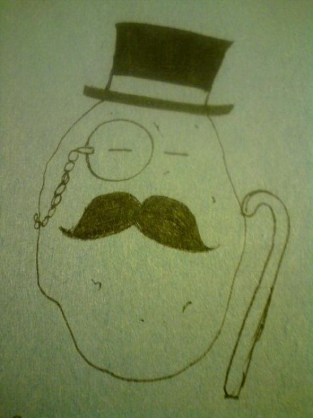 & here I present to you Mr. Dapper Potato